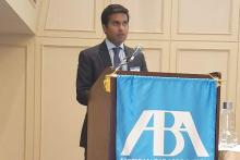 Dr. Shantanu Agrawal, director for the CMS Center for Program Integrity, speaks at a recent American Bar Association conference.