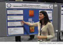 Dr. Afsarmanesh talks about her poster.
