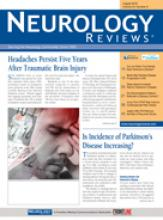 Neurology Reviews August 2016 cover