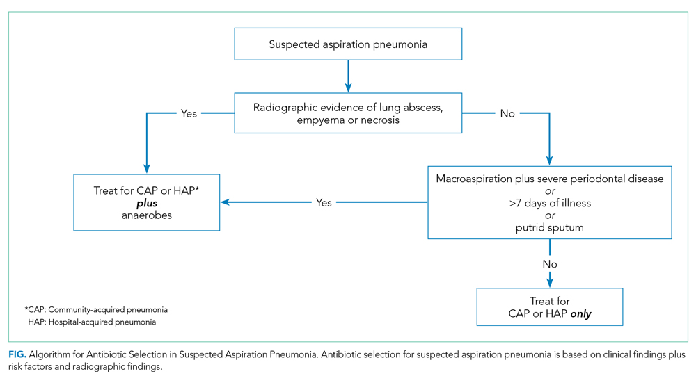 Algorithm for Antibiotic Selection in Suspected Aspiration Pneumonia